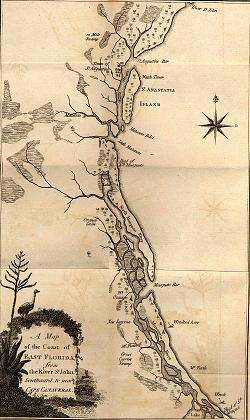 Map of Bartram's Travels